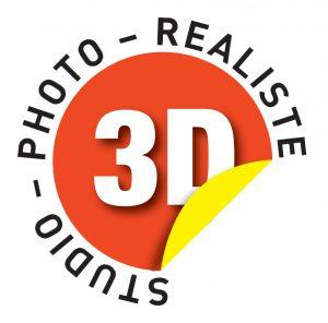 Logo Studio Photo Réaliste 3D twings