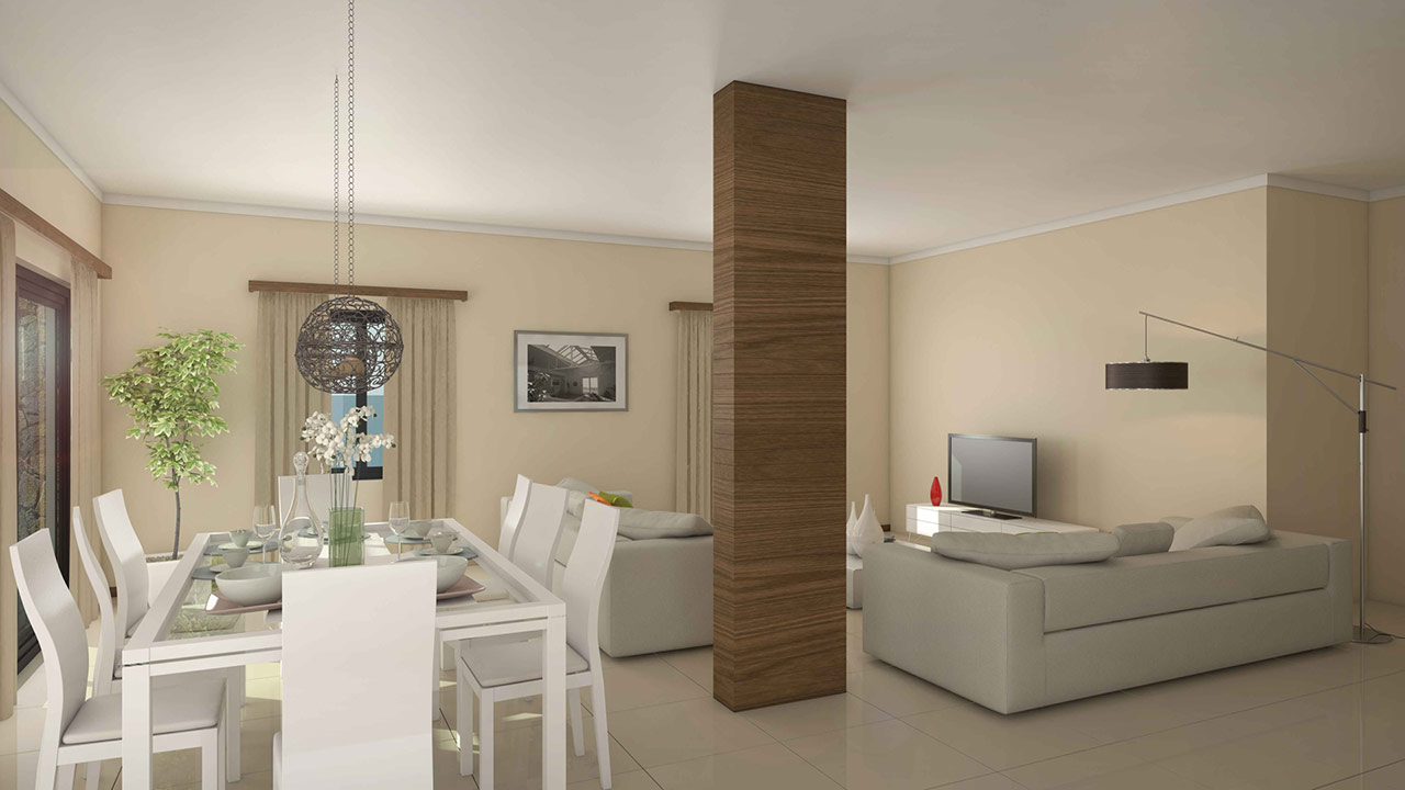 Dessin photoréaliste twings3D d'une living-room suite 3D