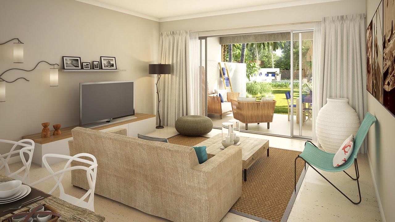 Dessin photoréaliste twings3D d'une living-room